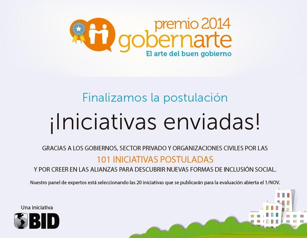 Cerró con éxito la convocatoria del Premio Gobernarte 2014