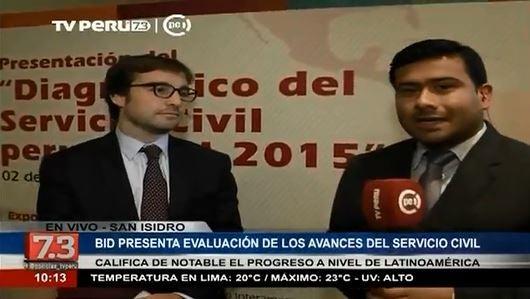 BID presenta evaluación de los avances del Servicio Civil en Perú