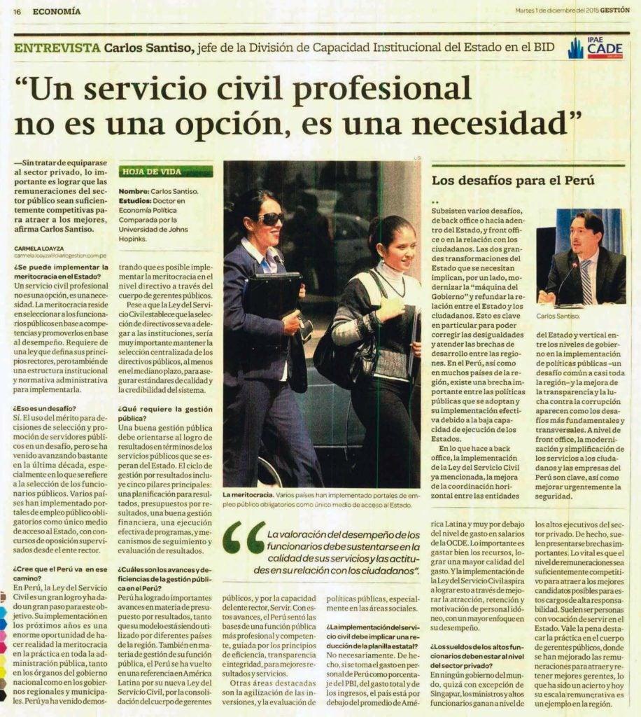 Un Servicio Civil profesional no es una opción, es una necesidad