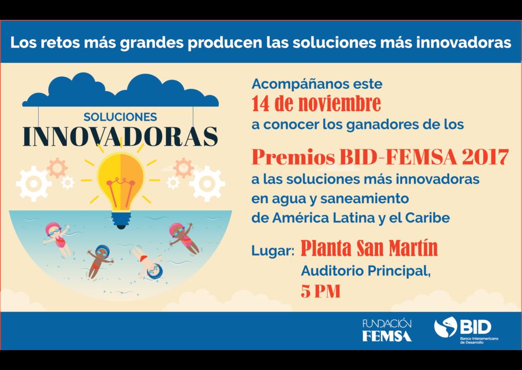 Inteligencia artificial, filtros ecológicos y más: estos son los finalistas del Premio BID-FEMSA a la innovación en agua y saneamiento