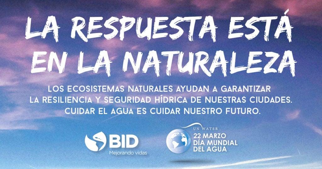 La réponse est dans la nature: Journée mondiale de l'eau 2018