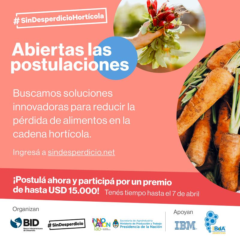¡Salvemos las hortalizas! Abierto el premio #SinDesperdicioHortícola