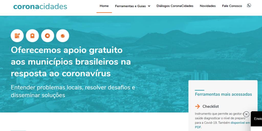 Site do portal coronacidades.org