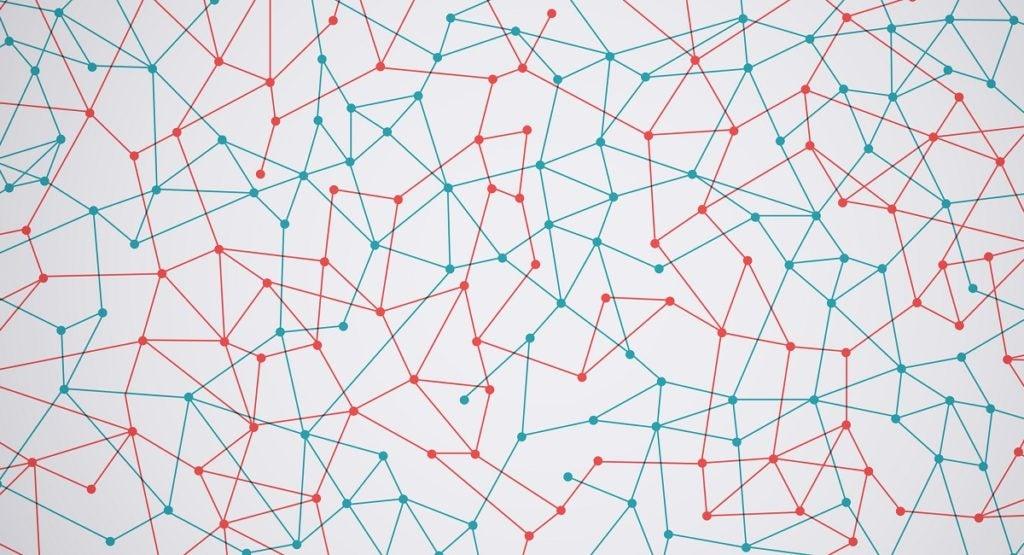 Ilustração abstrata Pontos conectados Dot Connection Network Background