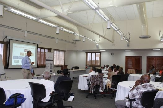 Strengthening Civil Society in the Caribbean – Workshop held in Project Cycle Management