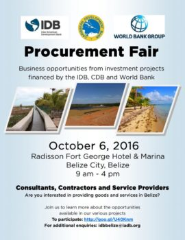 Looking for business opportunities? Join us at the Procurement Fair in Belize!
