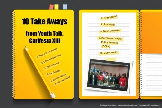 There is No Barrel: 10 Take Aways from Youth Talk, Carifesta XIII