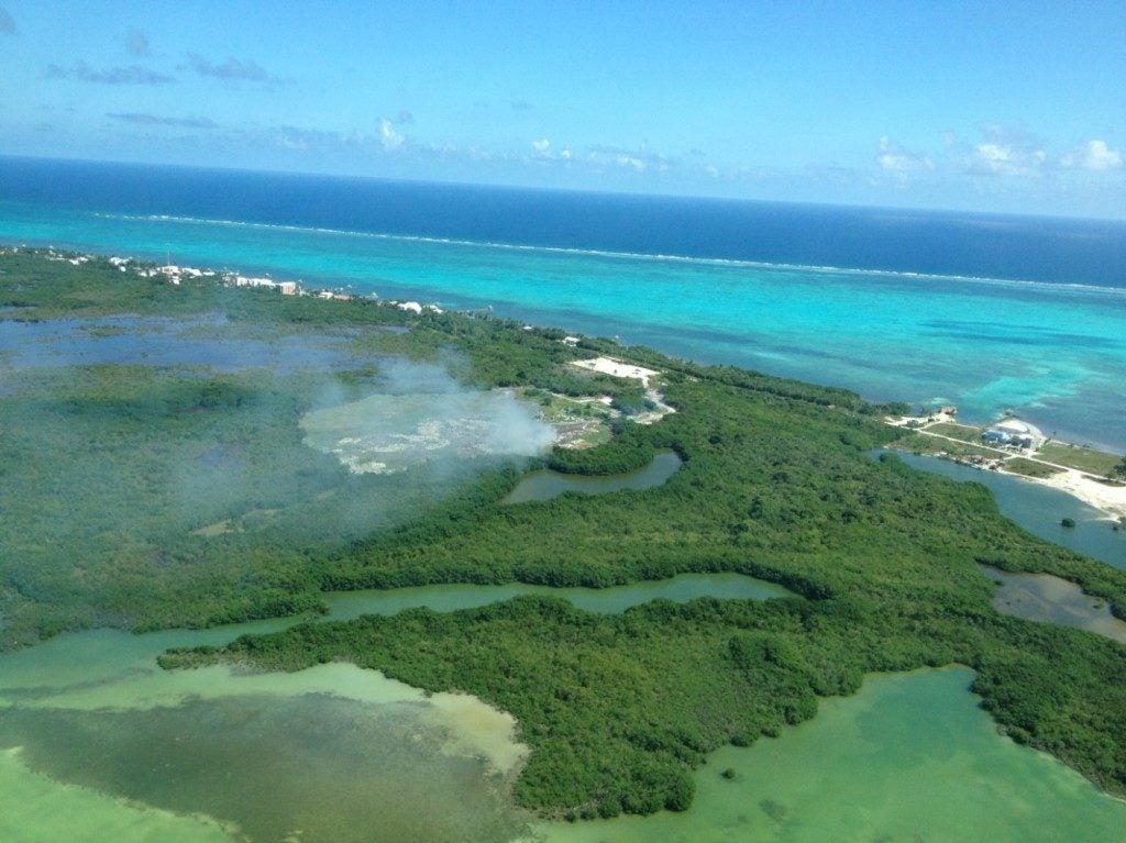 Rellenos sanitarios y arrecifes de coral