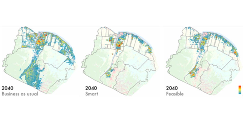Open code: urban growth prediction by analyzing satellite images