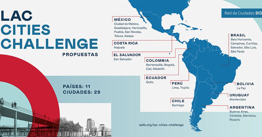 Concurso LAC Cities Challenge: apoyando iniciativas de regeneración urbana