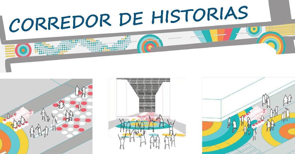 Intervención urbana Corredor de Historias - Lima, Perú, Agosto 2019