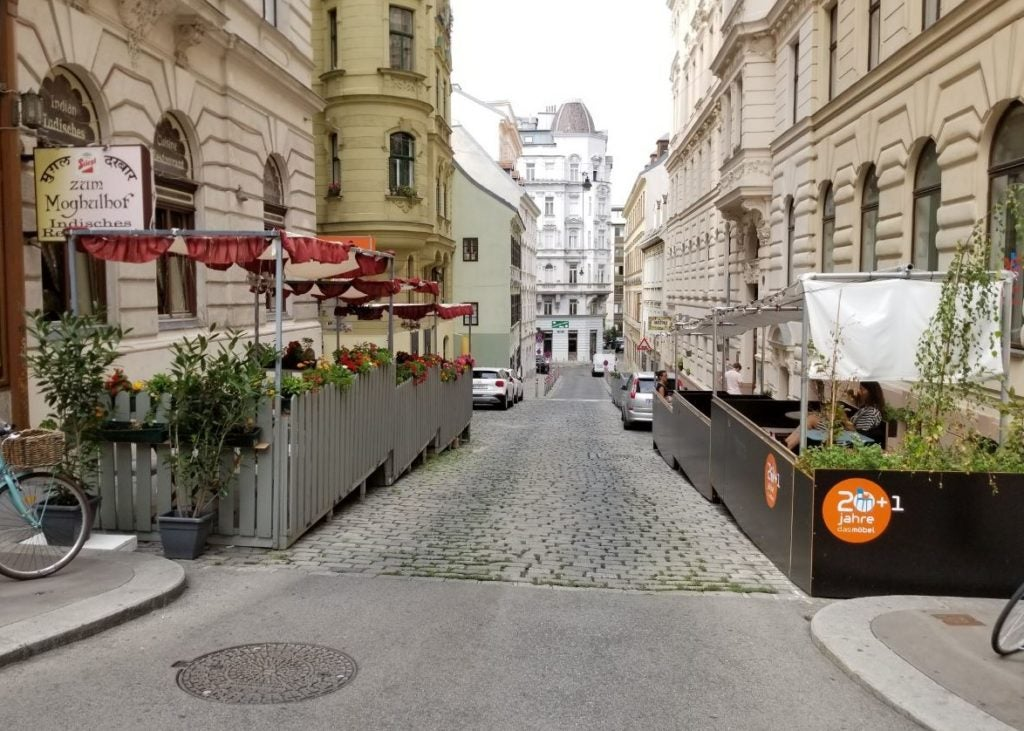 Parklets in Vienna: temporary public space activation and civic innovation