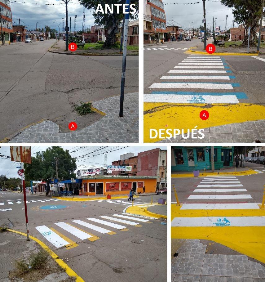 Antes y después - Caminos escolares, Palpalá, Jujuy, Argentina