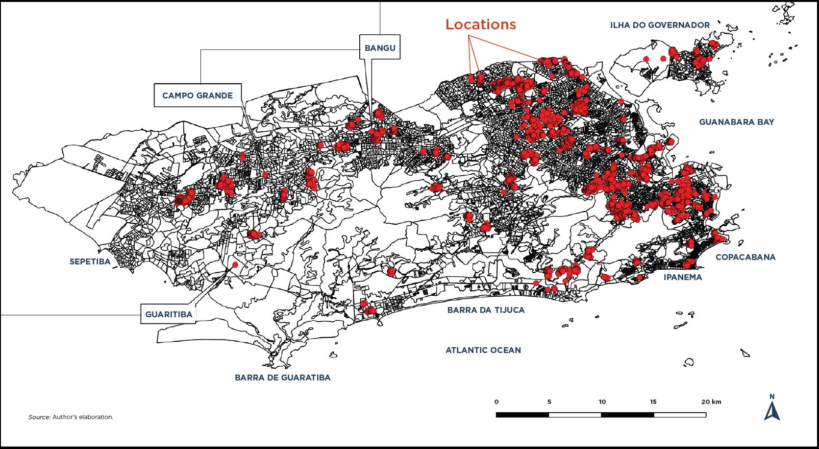 Favela Bairro II. (2000–2008) Locations