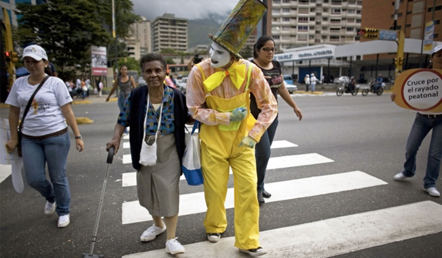 Traffic Mimes in Bogotá. Social Campaing. Source: This Changes Everything