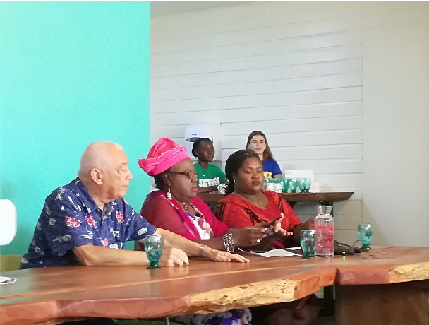 Public and private key stakeholders launching the festival period together. Source: Ruth Lanting, 2019