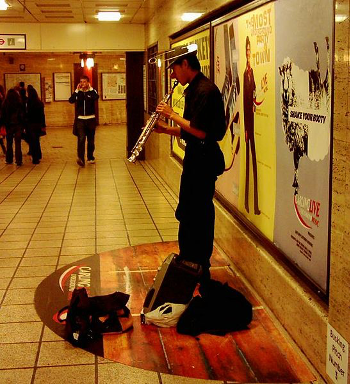 The metro/subway spots for music