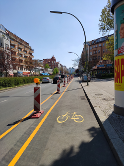 New 2020 bike lines in Berlin