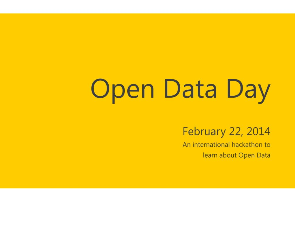 I am going to Open Data Day.  How about you?
