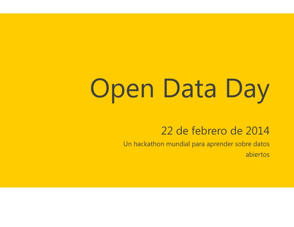 Yo voy al Open Data Day, ¿te apuntas?