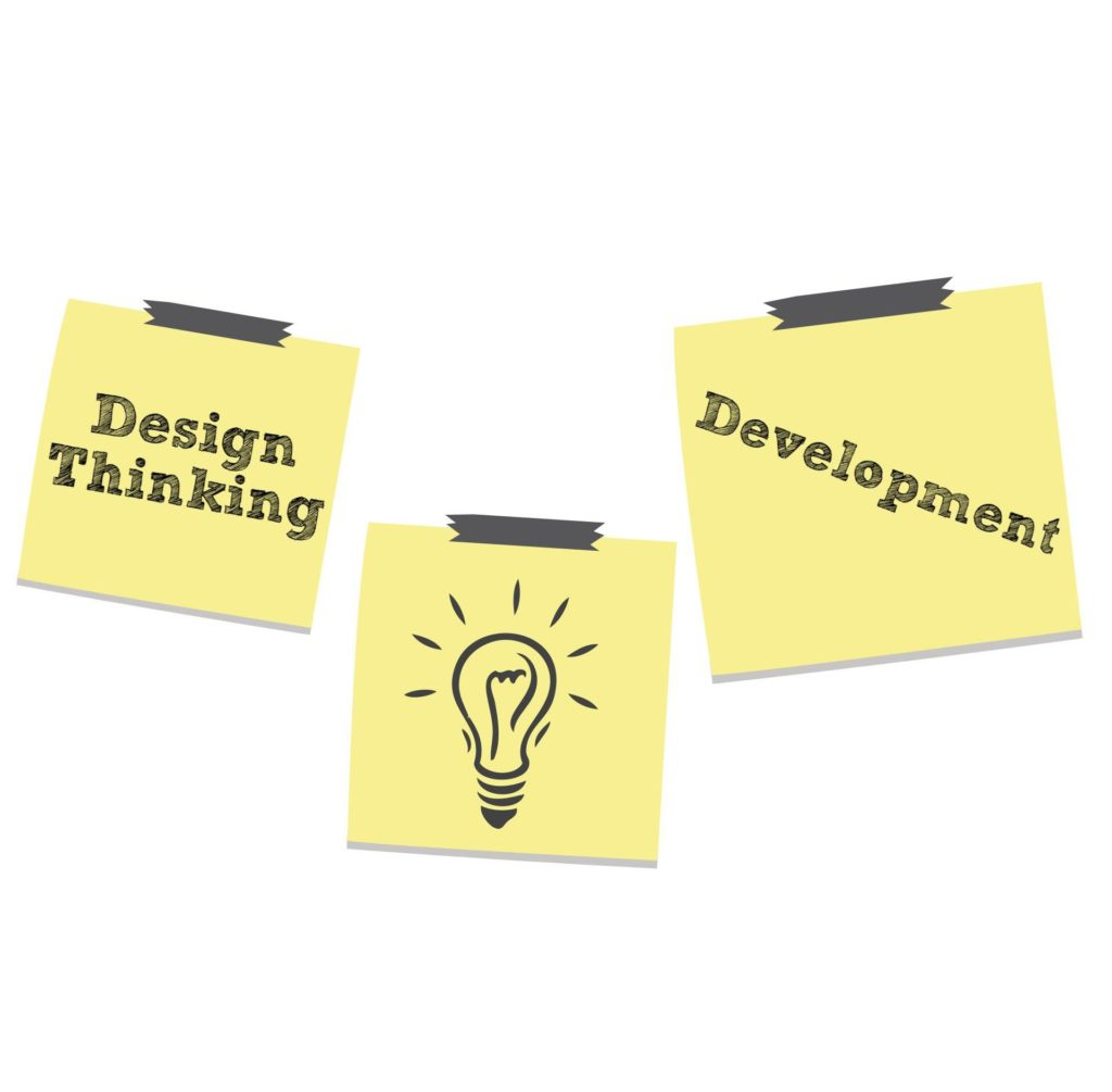 How can design thinking promote innovation in development?