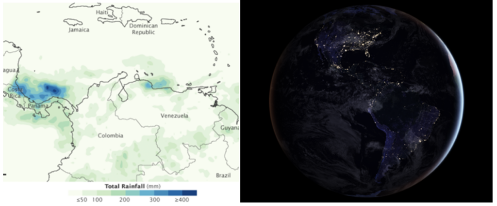 Se muestran imágenes de ejemplos de datos espaciales