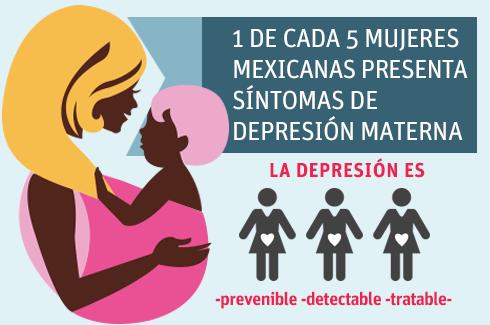 Una de cada cinco mujeres mexicanas presenta síntomas de depresión materna