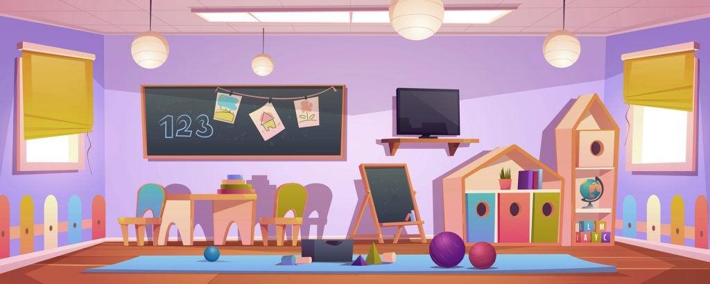 aula de preescolar vacía
