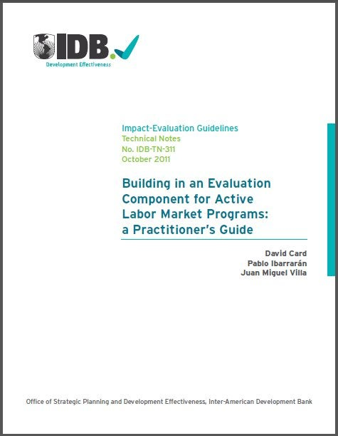 Una nueva guía para la evaluación de programas en el mercado laboral