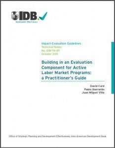 A new evaluation guide for practitioners: labor market programs