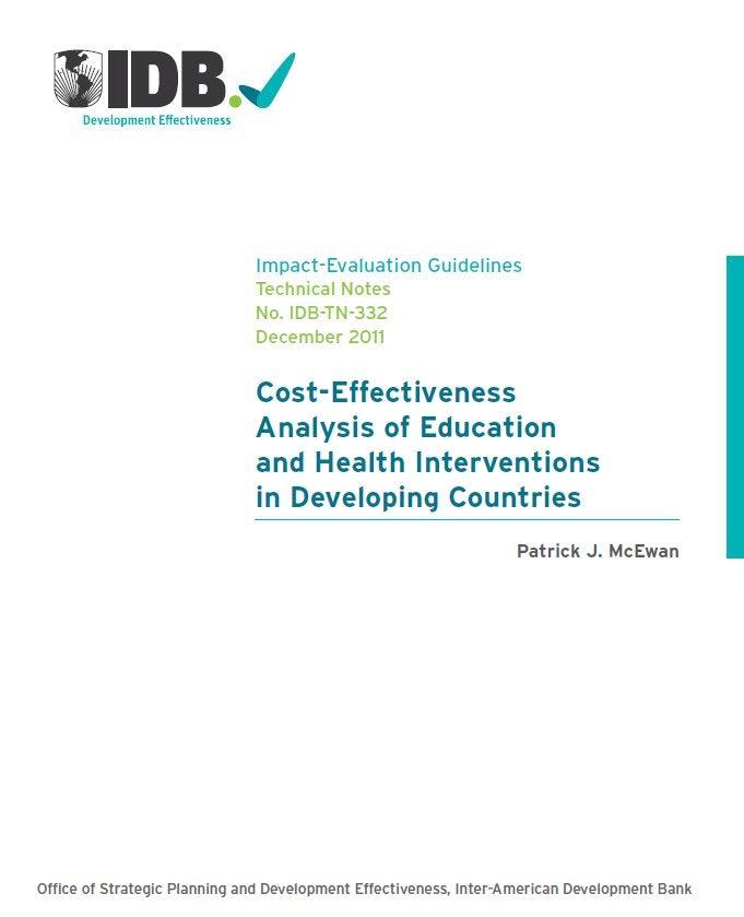 Una Guía para el análisis de costo efectividad en salud y educación