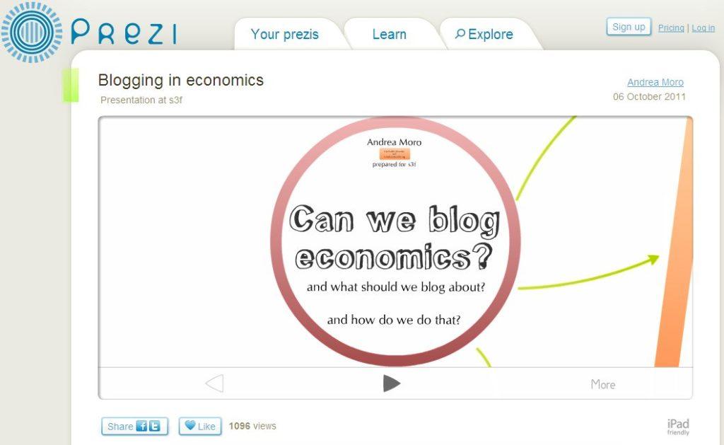 ¿Es bloguear bueno para los economistas?