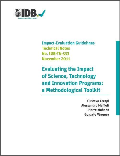 Una guía metodológica para evaluar el impacto de programas de ciencia, tecnología e innovación
