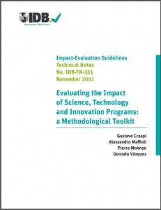Evaluating the impact of science, technology and innovation programs: a toolkit