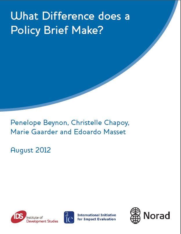 ¿Qué impacto tienen los documentos de recomendaciones de política?
