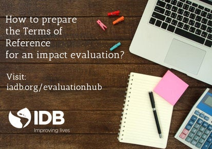 Planning ahead: Key to a successful impact evaluation