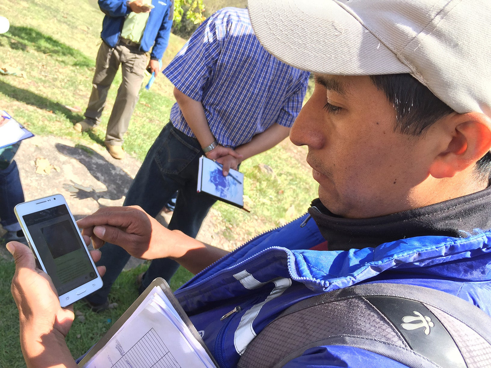 bolivian-program-coordinator-using-whatsapp