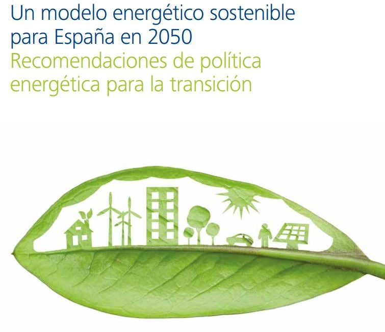 Un modelo energético sostenible para España en 2050