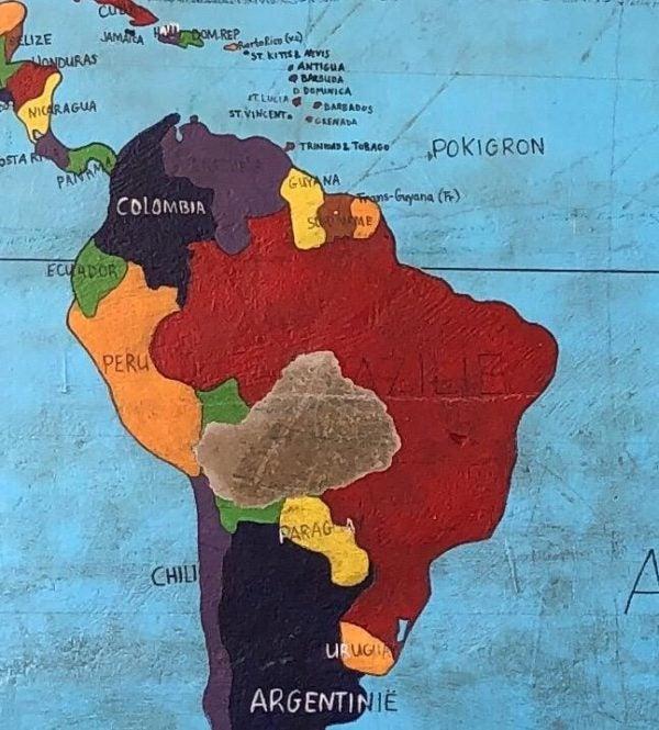 Mapa de Pokigron en América del sur