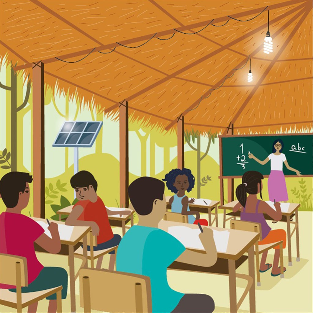 Light for rural education: more Energy to reduce School Dropout