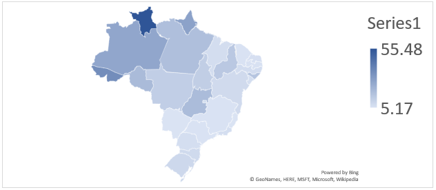Quality Indicator for Energy Services in Brazil by State