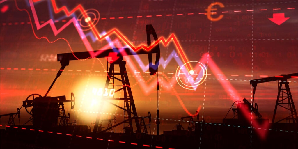 Crisis Petroleo-imagen gráfico en picada