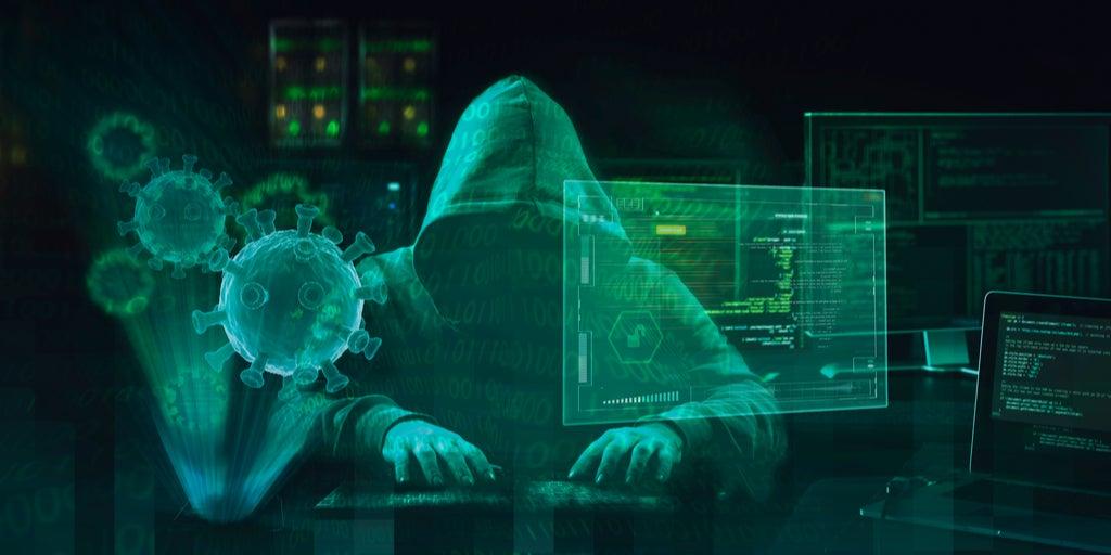 Dark background hacker with