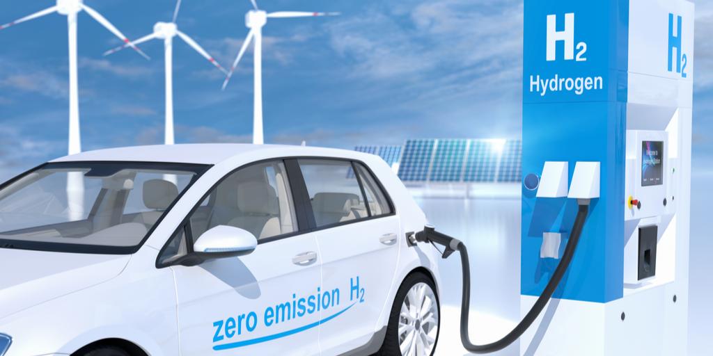 Hydrogen-electric car