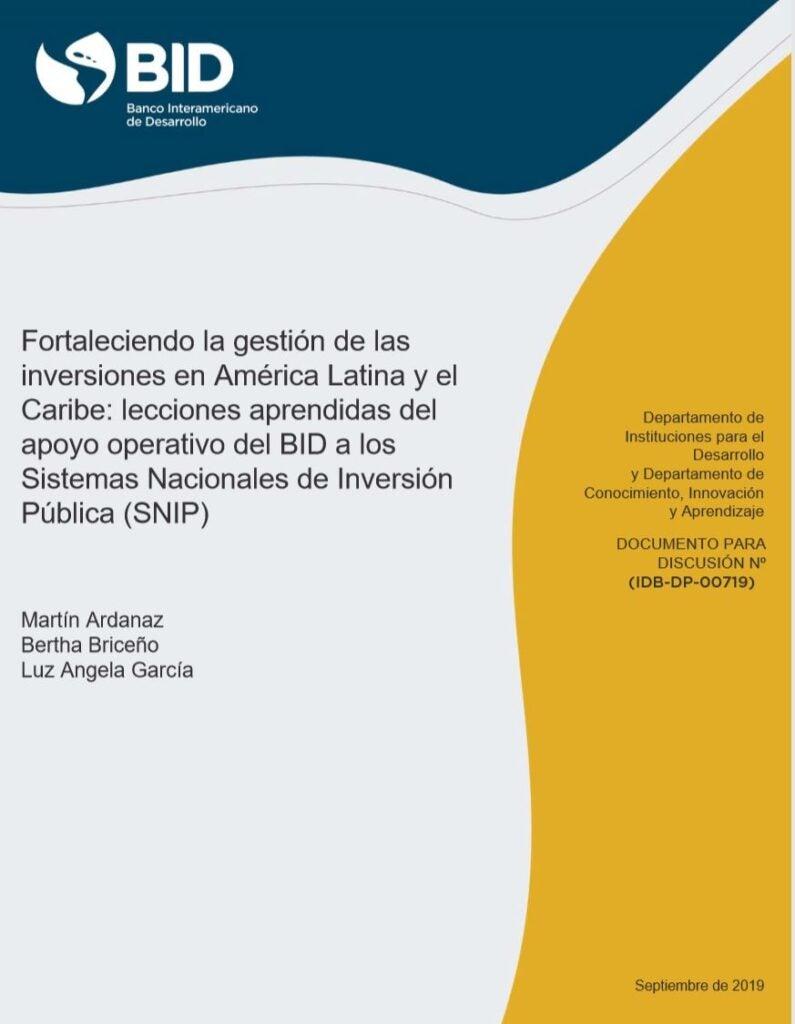Lecciones aprendidas del fortalecimiento a las inversiones públicas en América Latina y el Caribe