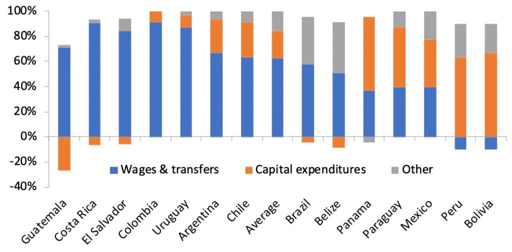 The Composition of Fiscal Expansions in Latin America and the Caribbean in 2009