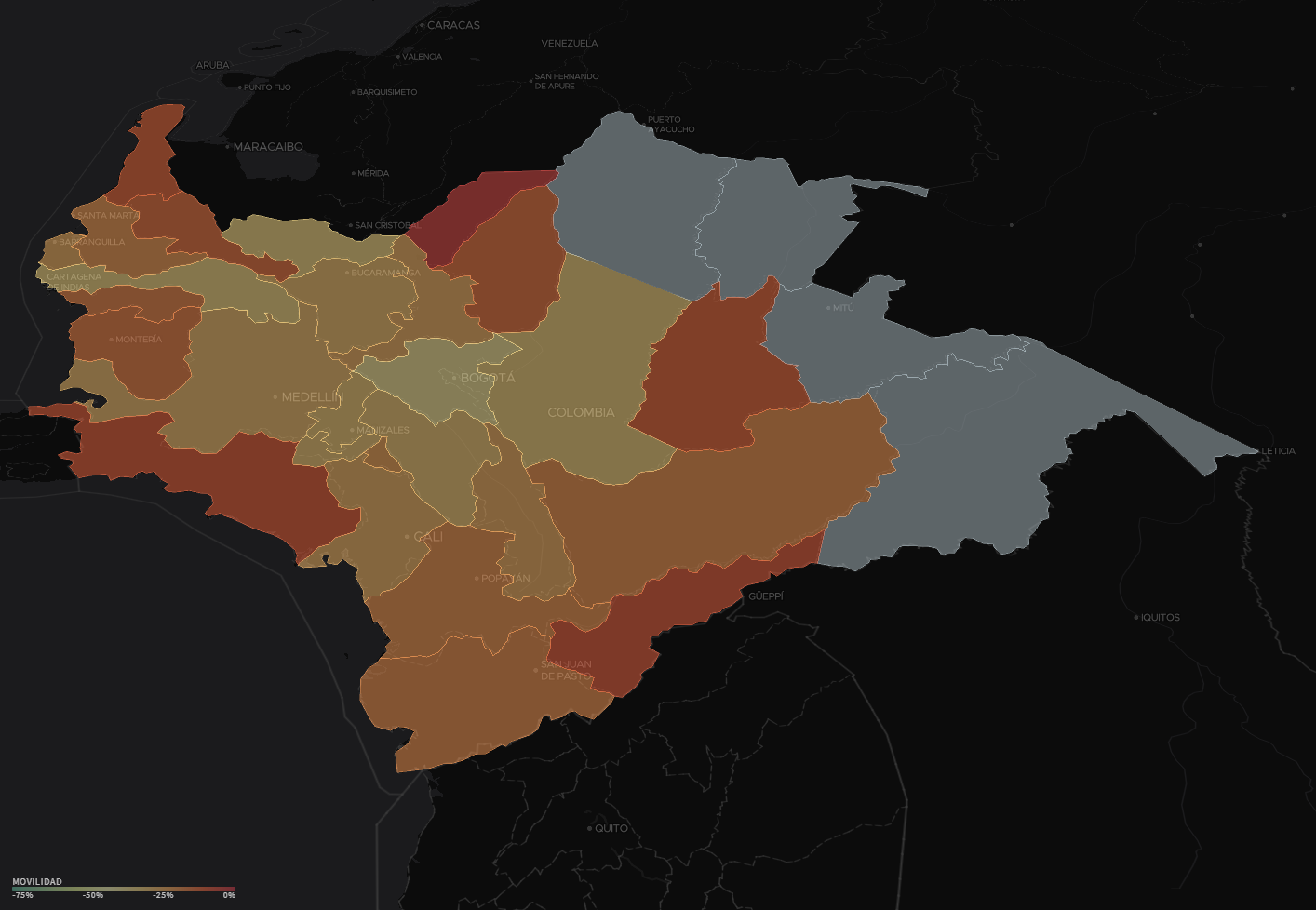Human Mobility Map Shows that People Are Observing Social Distancing