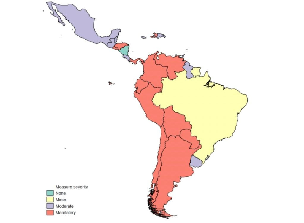 Social distancing in Latin America and the Caribbean