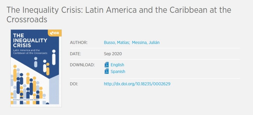 The Inequality Crisis: Latin America and the Caribbean at the Crossroads