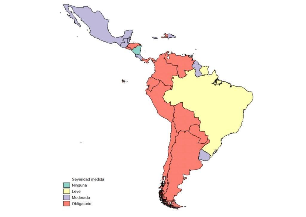 El distanciamiento social en América Latina y el Caribe